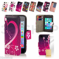 NEW PU LEATHER WALLET CASE COVER FOR IPHONE 4 /4S WITH FREE SCREEN PROTECTOR