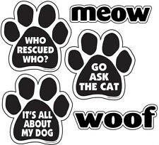 CAR MAGNETS - Pet Cat Dog Rescue Lover Locker Refrigerator Mailbox U Choose