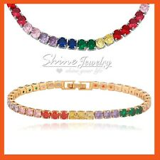 9K GOLD GF R163 CUTE BUTTERFLY SWAROVSKI CRYSTAL LADY GIRL KIDS GIFT SOLID RING