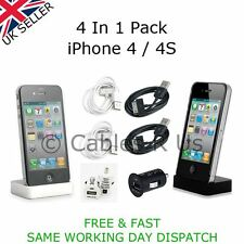 4 In 1 Data Charging Cables Belkin Car Charger Docking Station For iPhone 4 / 4S
