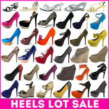 Whole Sale Lot Womens Shoes Platform Wedge High Heel Pump Sandal Round Open Toe