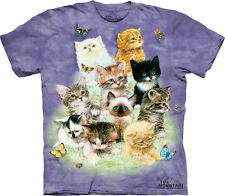 The Mountain 10 Kitten Cat & Butterfly Adult T-Shirt PRINT IN USA MT66