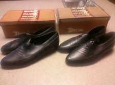 New in Box Vintage Distino Men's Black Genuine Leather Shoes 15540