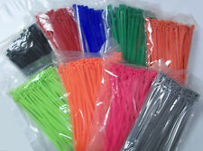 """7"""" Nylon Cable Zip Tie 50 lb 500 Count Your Choice of Color"""