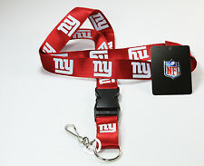 NEW YORK GIANTS NFL BREAKAWAY LANYARD KEYCHAIN or TICKET HOLDER RED