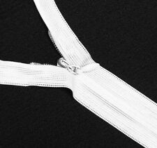 """Wholesale 1-1000 Zippers 24""""/61cm Off White Closed End Invisible/ hidden zip"""