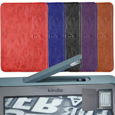 "BUILT IN LED LIGHT SLIM LEATHER CASE COVER FOR KINDLE TOUCH 4 / 5 gen 6""WiF 3G"