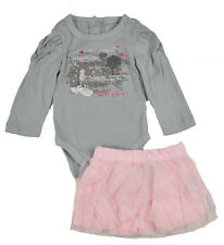 Calvin Klein Infant Girls Gray & Pink 2pc Tutu Skirt Set Size 3/6M 6/9M