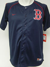 NEW Boys Girls Kids Youth NIKE Boston RED SOX Navy Blue Baseball MLB Jersey