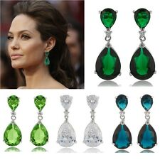 Celebrity Inspired by Angelina Jolie Bride Formal Prom Teardrop Earrings