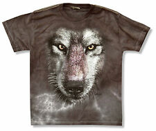 """THE MOUNTAIN """"WOLF"""" BROWN TIE DYE T-SHIRT WOLVES NEW YOUTH KIDS OFFICIAL"""