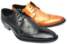 MENS WEDDING SMART BROGUE SHOES ITALIAN FORMAL OFFICE WORK CASUAL PARTY DRESS