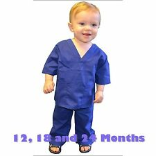Toddler Scrubs Set REAL Royal Blue Childrens Doctor and Nurse Kids Scrub Sets