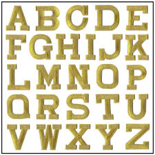 Iron on Letters - Embroidered Block Letters - Sold Separately
