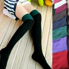 Fashion Lady Women's Two Tone Thigh High Over The Knee Socks