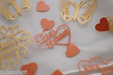 PERSONALISED WEDDING Confetti scatter table decor 2 names TOGETHER double heart