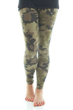 GREEN CAMOUFLAGE CAMO PRINT LEGGINGS FULL LENGTH MILITARY ARMY COUNTRY HUNTING