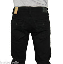 NWT True Religion Brand Men's Ricky Straight Leg Midnight black Jeans Pants