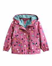Joules GIRLS KIRSTIE Waterproof Fleece Lined Coat - Ages 3to12yrs PINK    Sale