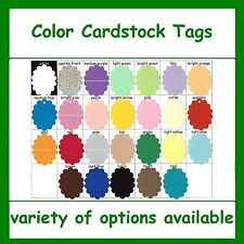 Oval Scalloped Tags Color Cardstock Colored Card Stock Gift Craft Sale Price Tag