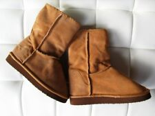 """NEW! """"Steve & Barry's"""" Camel Suede, Faux Fur Lined, Warm Winter Boots, Size: 6.5"""