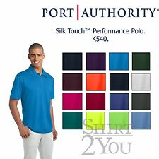 Port Authority Mens Silk Touch Dri-Fit Polo Shirt NEW Size XS-4XL K540 16 Colors
