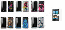 Hard Case Snap-on Phone Cover for Huawei Ascend W1 H883G+Screen Protector