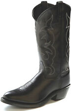 Mens Leather Black Work Boots By Old West TBM3010