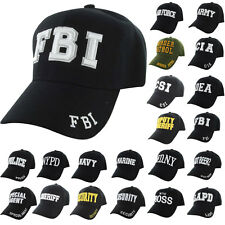 Baseball Cap Adjustable Hat BLACK POLICE FBI CSI FDNY LAPD MARINE ARMY NAVY DEA