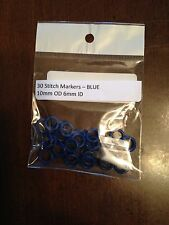 30 5mm OD Blue Stitch Markers or Oh Rings or Jump Rings - Rubber