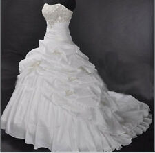 New Bride Bridesmaid Gown Prom Ball Evening Wedding Dress Size 6-8-10-12-14-16