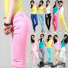 Sexy Candy Color Women lady Stretch Pencil Pants Casual Slim Skinny Jean Trouser