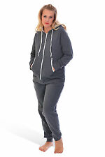 Womens Plain Plus Size Adult Hoody Ladies All In One Jumpsuit Onesie Nouvelle