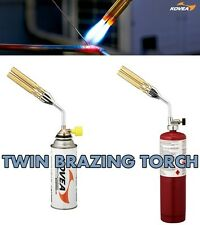New KOVEA HQ Strong Firepower Twin Brazing Gas Torch Adjustable Easy Install
