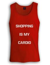 SHOPPING IS MY CARDIO Singlet FASHION SWAG Retro Mindy GYM TRAINING Workout