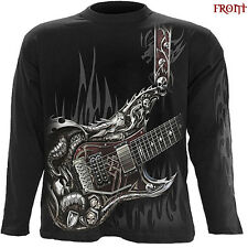 Spiral Direct AIR GUITAR Long Sleeve T-shirt/Biker/Tattoo/Skull/Metal/RockDragon