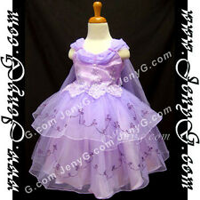 #SP11 Flower Girls/Wedding/Formal/Holiday/Party Gowns Dresses, Purple 0-4 Years