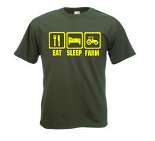 Eat Sleep Farm Tshirt. Farmers, Farming, Tractor Driving Gift. FREE UK P&P.