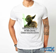 T-SHIRT MAGLIETTA YODA STAR WARS CHOOSE YOUR QUOTE