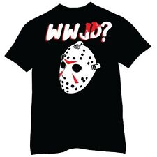 WWJD What Would Jason Voorhees Friday The 13th Classic Horror Movie Mens T-Shirt