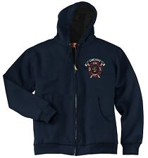 Chicago Fire Dept. Crossed Axe Heavyweight Full-Zip Sweatshirt W/ Thermal Lining