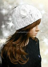 NEW SUPER CUTE CABLE KNIT HAT LADIES GIRLS CHUNKY WINTER HAT IN CREAM FREE POST