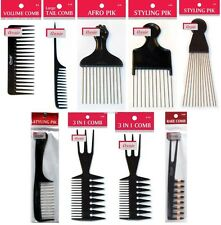 ANNIE BLACK & MULTI COLOR COMBS for PROFESSIONAL SALON BARBER HAIR CUT AND STYLE