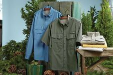 NEW Eddie Bauer Long or Short Sleeve Fishing Shirt. 5 Colors Sizes XS-4XL EB606.