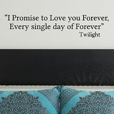 TWILIGHT, LARGE WALL STICKER, Forever, Love, Decal, WallArt, SS1055