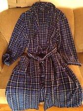 New Stafford Robe One Size Fits Most--100% Polyester--Black Plaid/Blue Plaid