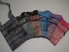 "Jean Pant Design 4""x6"" Purse Multi-Colored Fanny Pack Coin Pouch"