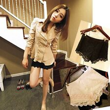 KDQ26 FASHION CHIC TWO-COLOR CROCHET LACE SHORTS GWF-6054
