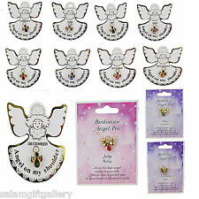 Birthstone Angel Tac Pin - Angel on my Shoulder Birthday Glass - LIMITED STOCK