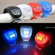 LED Front Cycling Bike Bicycle Silicone Frog Light / Rear Safety Warning Lamp HO